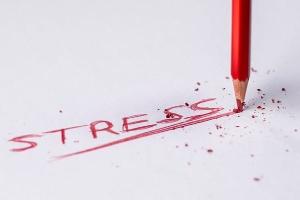 stress of writing