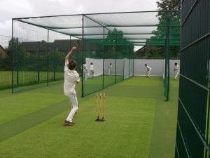 Cricket net practice