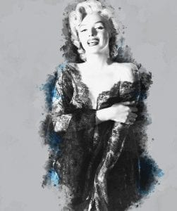 Marilyn Monroe photographed in the 1950s