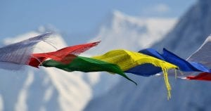 What is the meaning of Tibetan prayer flags