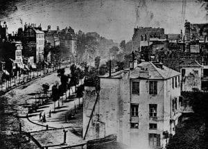 Boulevard du Temple in Paris.