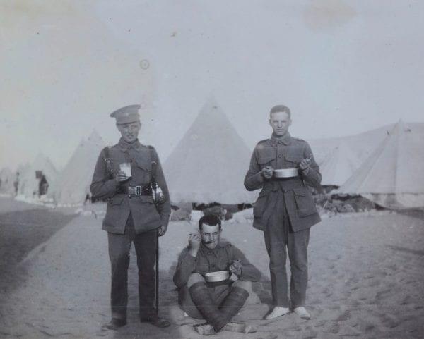 'Ice Cream in the Desert', Egypt, Captain Edward Albert McKenna, World War I, 1914-1915