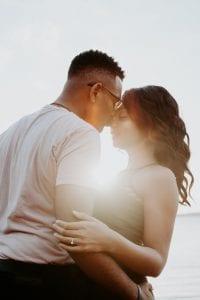 man-wearing-white-shirt-kissing-woman-in-her-nose-888894