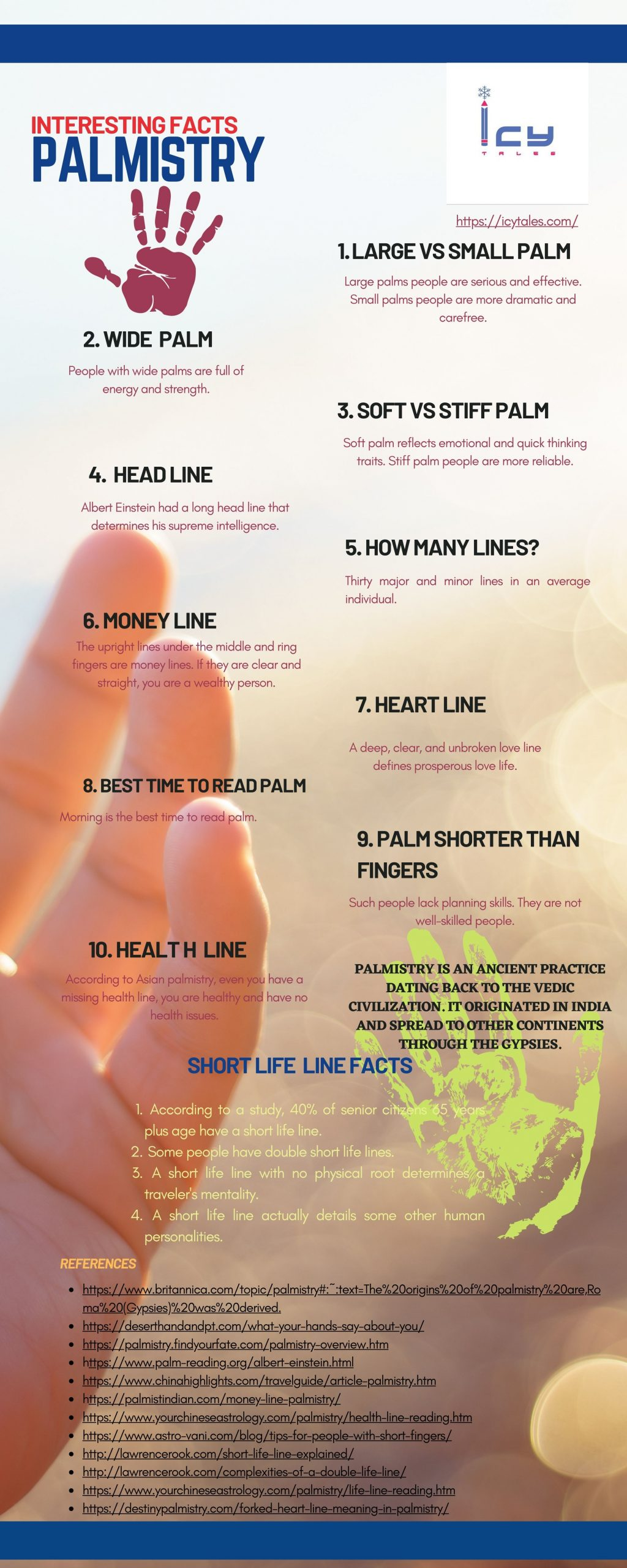 Interesting Palmistry Facts