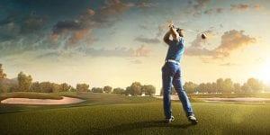 Golfer in the ground