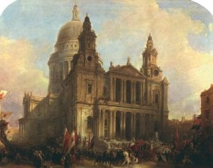 St. Paul's cathedral painted by David Roberts