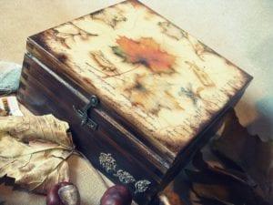 Decoupage art box
