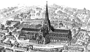 The old St. Paul's cathedral