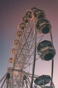 Ferris wheels at carnivals