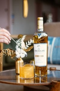 Macallan scotch malt whiskey.