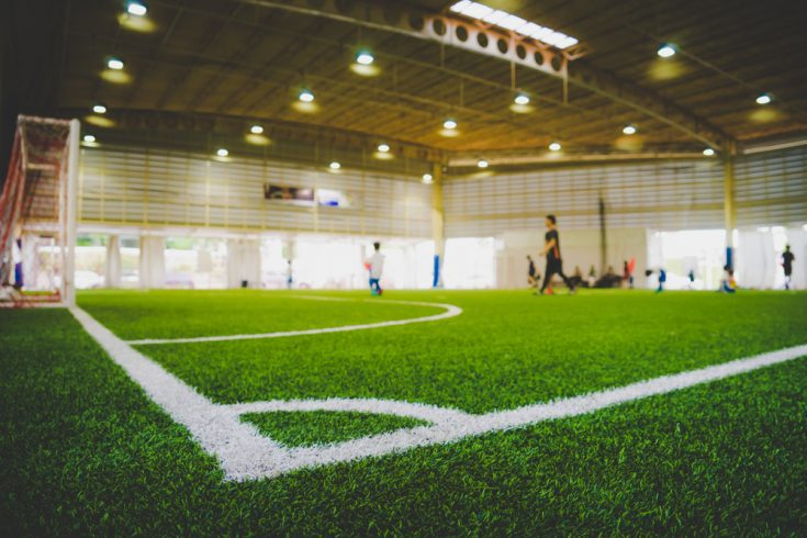 Indoor soccer can be fun