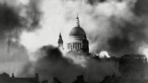 St. Paul's cathedral survived The Blitz
