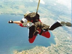 Freefalling for 1 minute