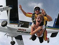 Jumping off an airplane