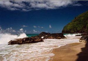 Kalalau Trail, Hanakapiai beach