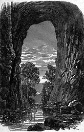 An old photograph of the Natural Bridge