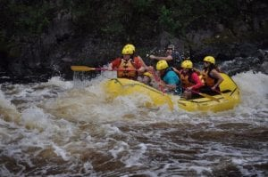 Party in a boat - Picture of Northwoods Adventures, Iron Mountain ...