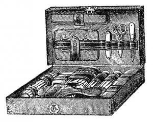 Victorian Era makeup History : Dressing case