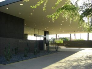 The entrance of the Phoenix Art Museum one of the elegant Museums in Phoenix