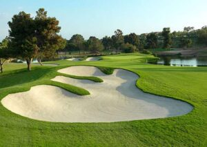 Indianapolis Golf Courses designed by Pete Dye have intriguingly carved Sand Bunkers.