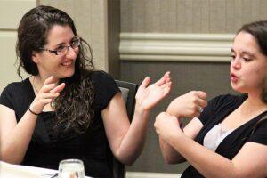 Conversing in sign language