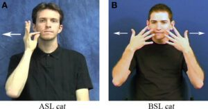 asl and british sign language