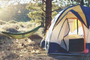 Camping at the Granite hot springs
