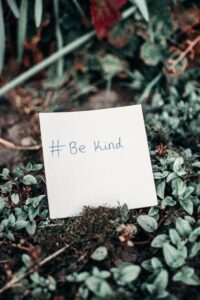 Being kind is one of the rules of life