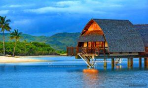 overwater bungalows fiji