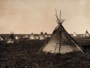Lakota Tribe family tipi