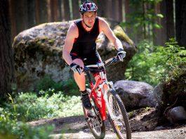 mountain bike riding man