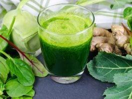 green veggies and green drinks